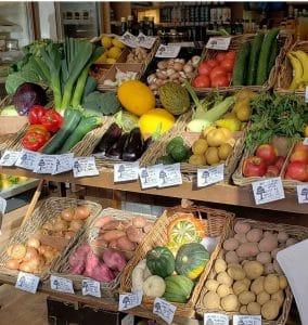 prize winning organic veg display